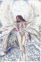 Angel with Moon, ©Heshima Denham