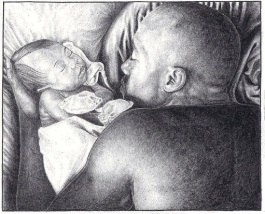 Father Baby Study, by ©Heshima Denham