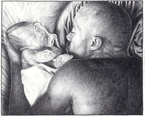 Father Baby Study, by ©Heshima Denham